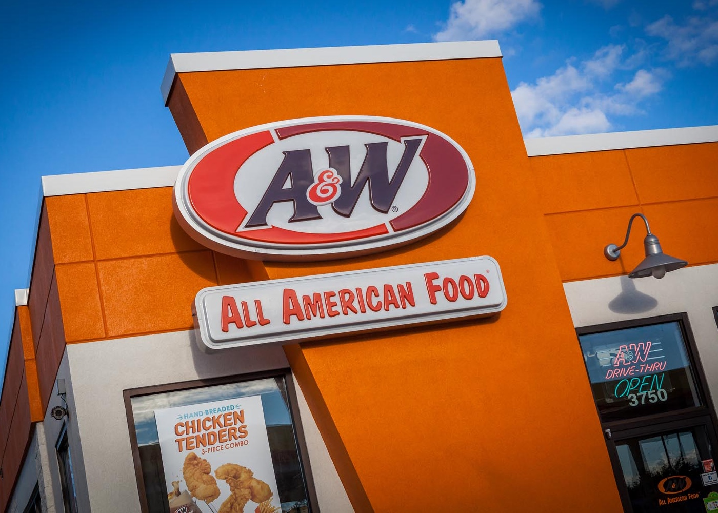 Front of an A&W Restaurant